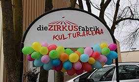 Eingang der Zirkusfabrik